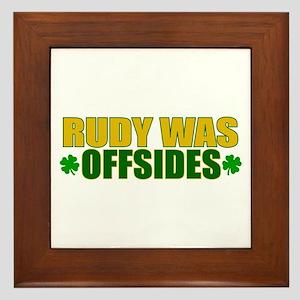 Rudy Offsides (2) Framed Tile