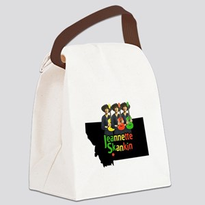 Jeannette Skankin rasta colors Canvas Lunch Bag
