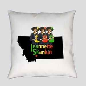 Jeannette Skankin rasta colors Everyday Pillow