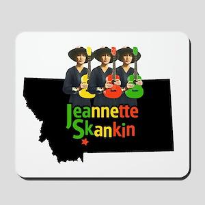Jeannette Skankin rasta colors Mousepad