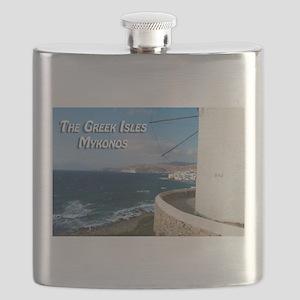 The Greek Isles - Mykonos Greece Flask