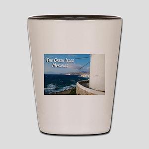 The Greek Isles - Mykonos Greece Shot Glass