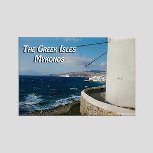 The Greek Isles - Mykonos Greece Magnets