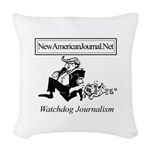 New American Journal Flag Woven Throw Pillow