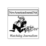 New American Journal Flag Square Sticker 3