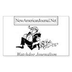 New American Journal Flag Sticker (Rectangle 10 pk