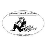 New American Journal Flag Sticker (Oval 50 pk)