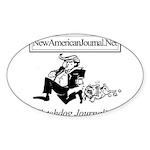 New American Journal Flag Sticker (Oval 10 pk)