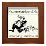 New American Journal Flag Framed Tile