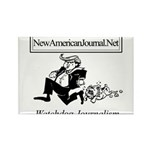 New American Journal Flag Rectangle Magnet (100 pa