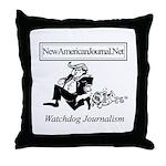 New American Journal Flag Throw Pillow