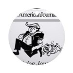 New American Journal Flag Round Ornament