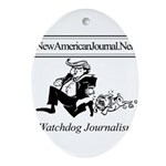 New American Journal Flag Oval Ornament