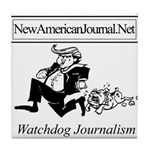 New American Journal Flag Tile Coaster