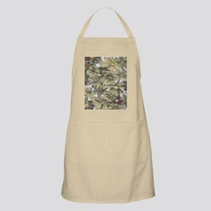 Muted Green and Gray Watercolor Flowers Apron