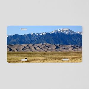 Colorado Sand Dunes Souveni Aluminum License Plate