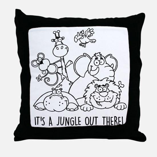 Unique Safari Throw Pillow