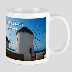 Windmills on Mykonos Island Greece Mugs
