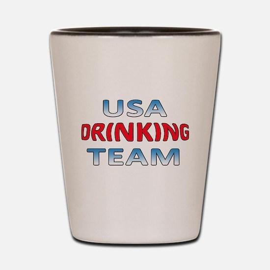 USA Drinking Team Shot Glass