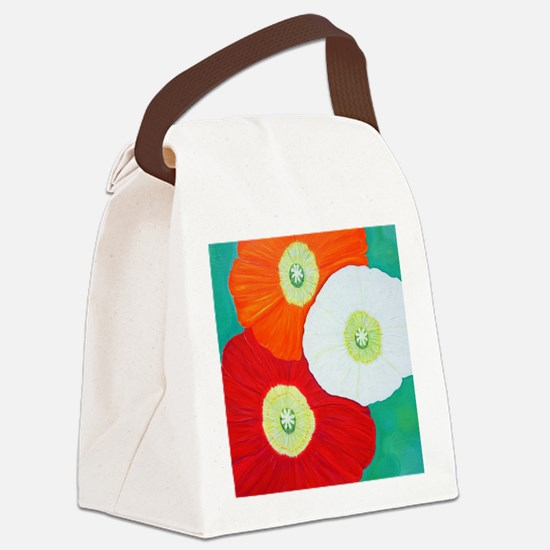 Funny Red poppy Canvas Lunch Bag