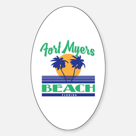 Cute Ft myers souvenirs Sticker (Oval)