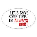 Save Time Oval Sticker
