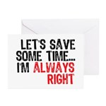 Save Time Greeting Cards (Pk of 10)