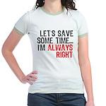 Save Time Jr. Ringer T-Shirt