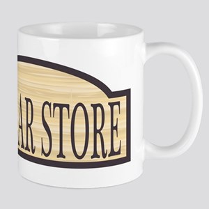 Wooden Dollar Store Sign Mugs