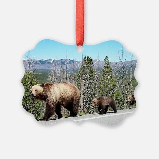 Bears in Yellowstone Park Mama an Ornament