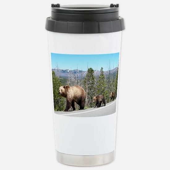 Bears in Yellowstone Pa Stainless Steel Travel Mug