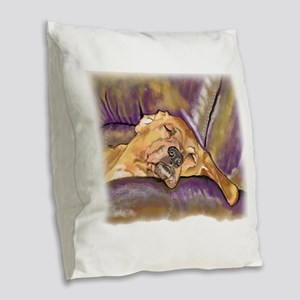 That's Quite a Dawg Burlap Throw Pillow