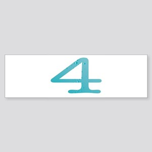Water Numbers Bumper Sticker