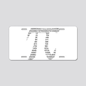 Pi Aluminum License Plate