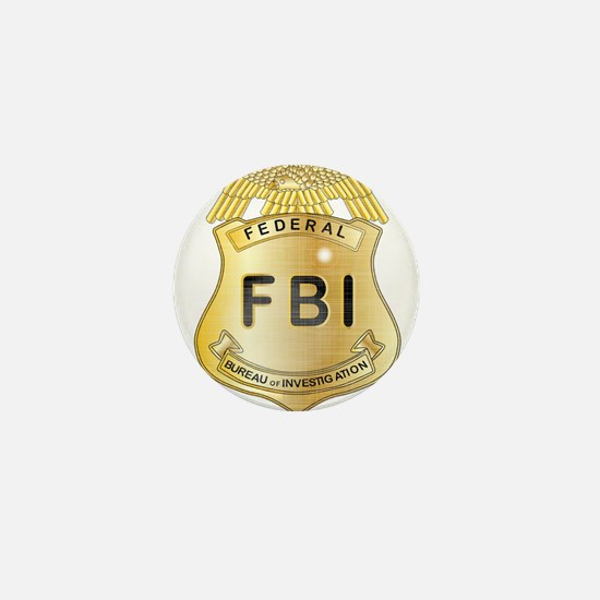 FBI Badge Mini Button