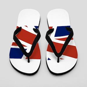 Union Jack Close Up Flip Flops