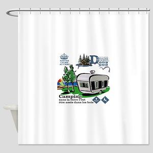 domain duhamel camping Shower Curtain