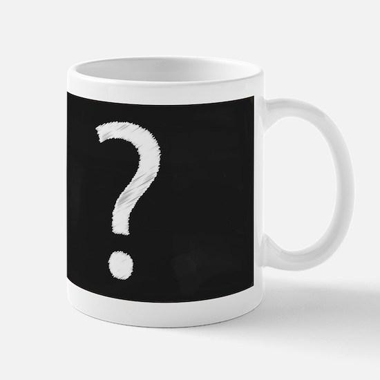 Question Mark Blackboard Mugs