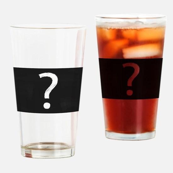 Question Mark Blackboard Drinking Glass