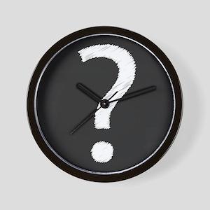 Question Mark Blackboard Wall Clock
