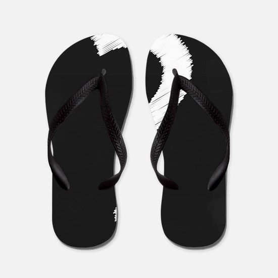 Question Mark Blackboard Flip Flops