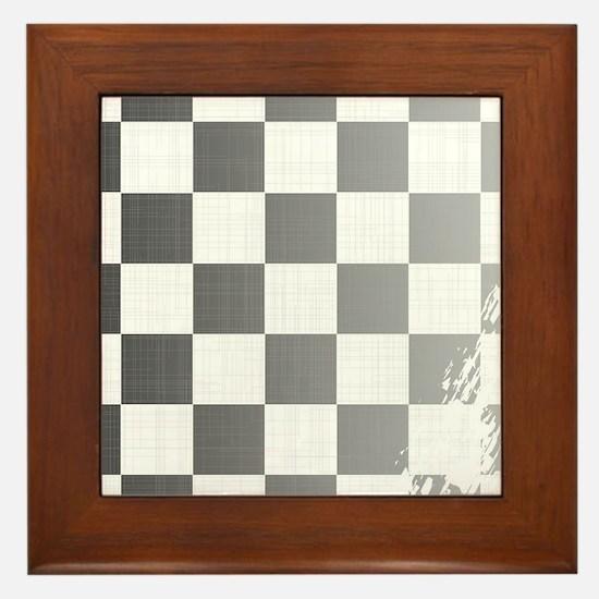 Chequered Flag Grunge Framed Tile