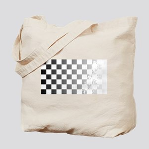 Chequered Flag Grunge Tote Bag