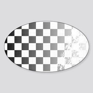 Chequered Flag Grunge Sticker