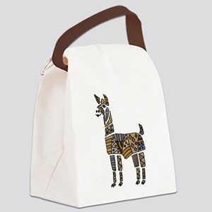 Llama Art Canvas Lunch Bag