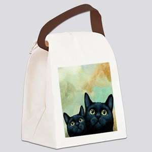 Cat 607 black Cats Canvas Lunch Bag