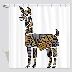 Llama Art Shower Curtain