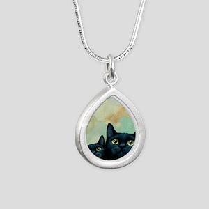 Cat 607 black Cats Necklaces