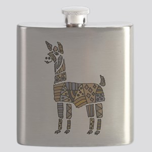 Llama Art Flask