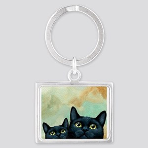 Cat 607 black Cats Keychains